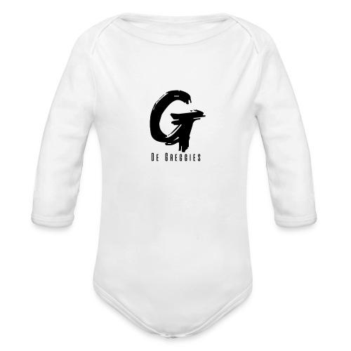 De Greggies - Shirt wit - Baby bio-rompertje met lange mouwen