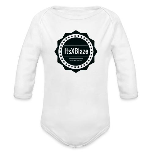 ItsXBlaze Logo 2 Women V-Neck Option 1 - Baby bio-rompertje met lange mouwen