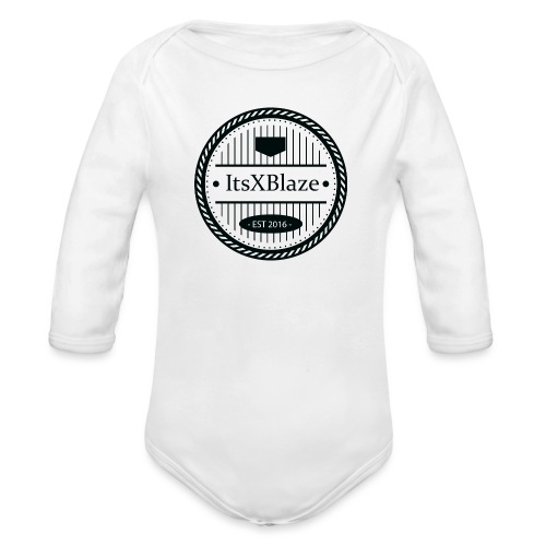 ItsXBlaze Logo 3 V-Neck Option 1 - Baby bio-rompertje met lange mouwen