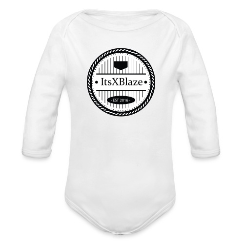 ItsXBlaze Logo 3 White V-Neck Option 2 - Baby bio-rompertje met lange mouwen