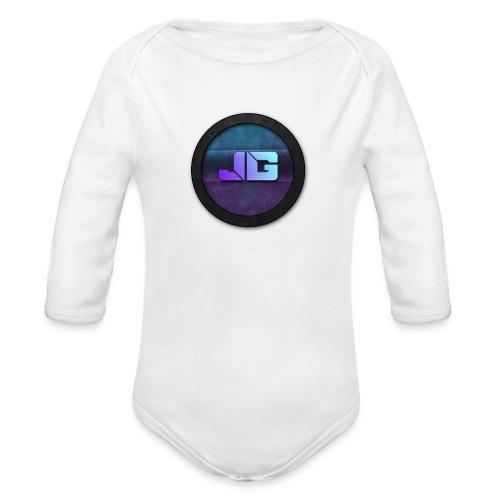 Pet met Logo - Baby bio-rompertje met lange mouwen