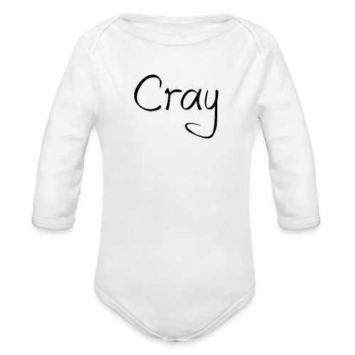 Cray Black Schrifft - Baby Bio-Langarm-Body