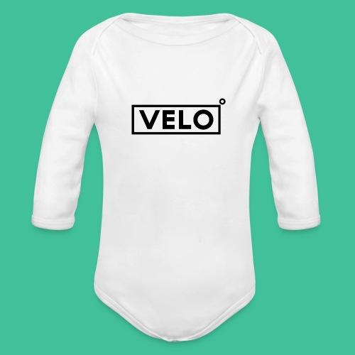 Velo Icon Blk - Long Sleeve Baseball Shirt W/N Clr - Organic Longsleeve Baby Bodysuit