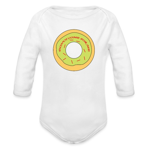 Donut Come For Me Red - Organic Longsleeve Baby Bodysuit