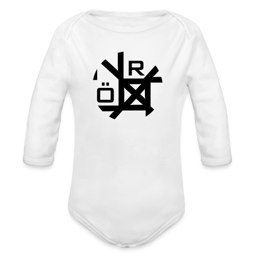 Nörthstat Group™ TecH | iCon - WHT.Knapsack - Organic Longsleeve Baby Bodysuit