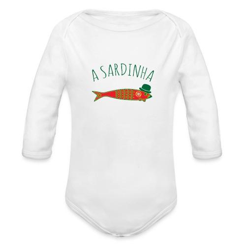 A Sardinha - Bandeira - Body Bébé bio manches longues