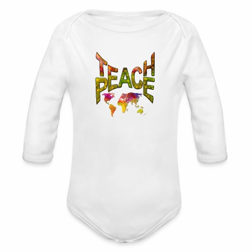 Teach Peace - Organic Longsleeve Baby Bodysuit