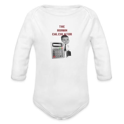 The Human Calculator - Ekologisk långärmad babybody