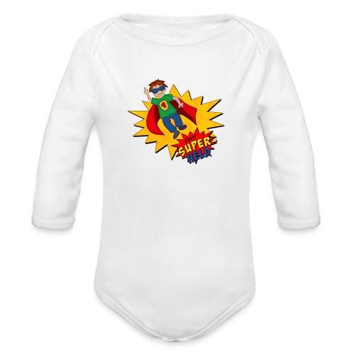 kleiner Superheld - Baby Bio-Langarm-Body