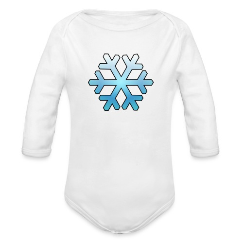 Schneeflocke - Baby Bio-Langarm-Body