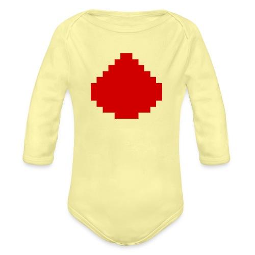 MCPE Redstone Logo - Baby bio-rompertje met lange mouwen