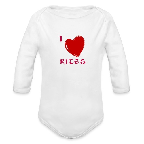 love kites - Organic Longsleeve Baby Bodysuit