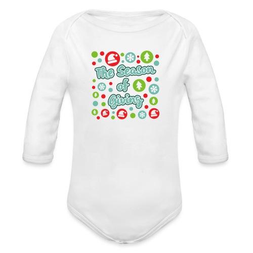 The Season of Giving - Organic Longsleeve Baby Bodysuit
