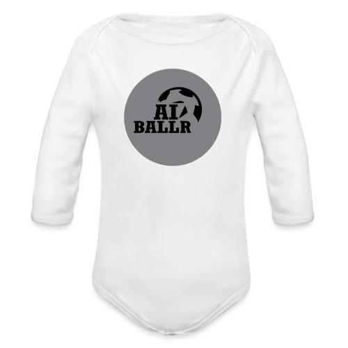 LOGO - Baby bio-rompertje met lange mouwen