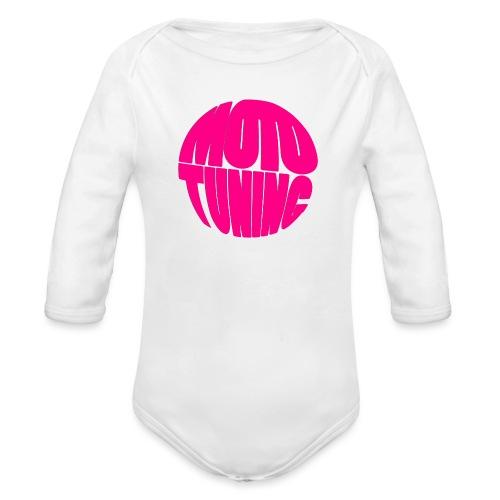 MotoTuning Pink - Organic Longsleeve Baby Bodysuit