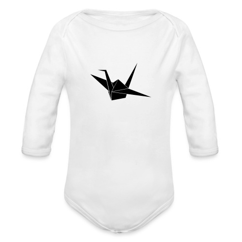 Crane bird - Baby bio-rompertje met lange mouwen