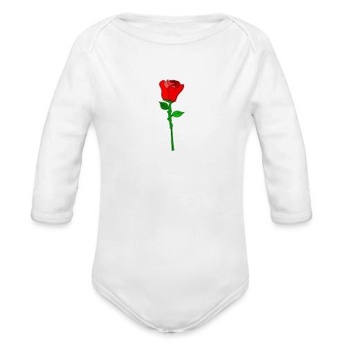 ROSE - Baby Bio-Langarm-Body