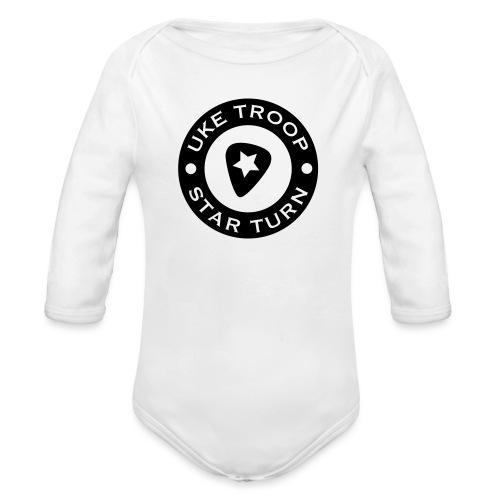 uke troop small - Organic Longsleeve Baby Bodysuit