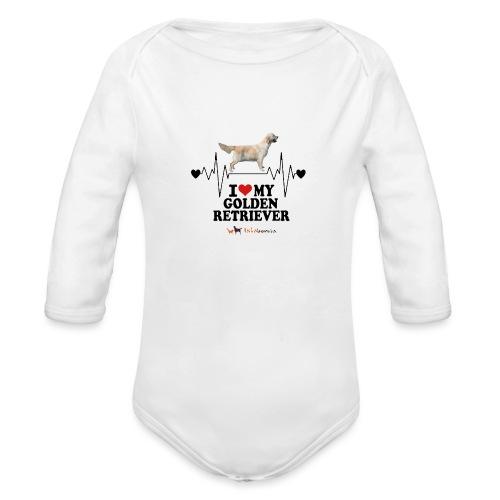 I love Golden Retriever - Body ecologico per neonato a manica lunga