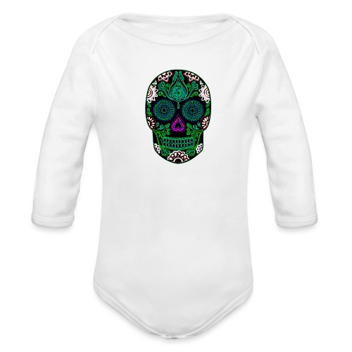 Sugar Skull - Organic Longsleeve Baby Bodysuit