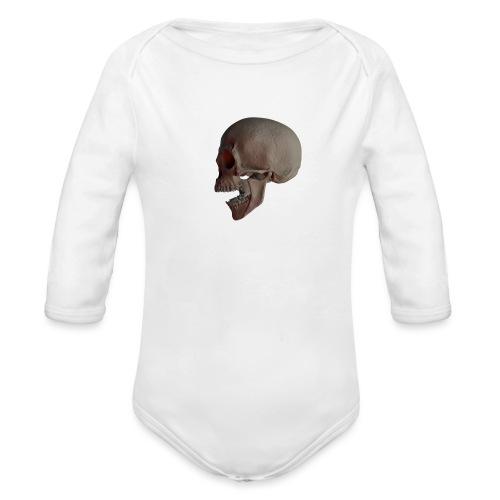 Teschio - Body ecologico per neonato a manica lunga
