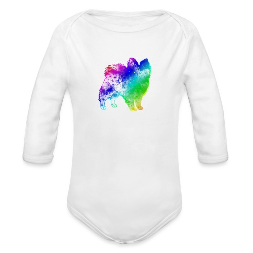 Space Dog - Organic Longsleeve Baby Bodysuit