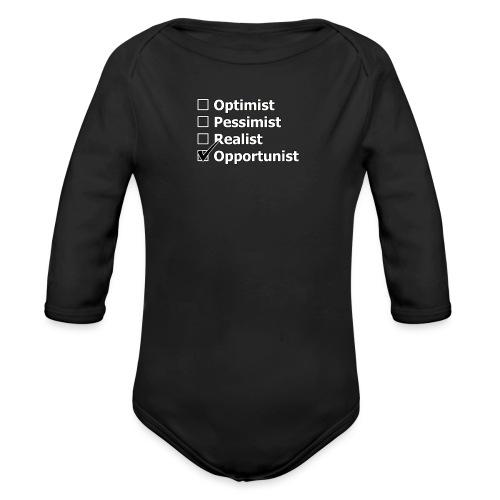 opportuniste - Body Bébé bio manches longues