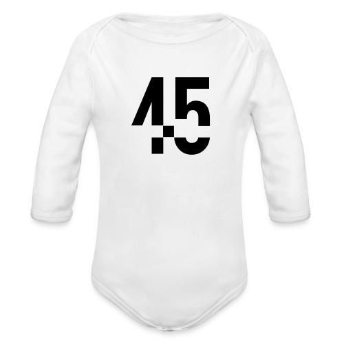45 Black - Ekologisk långärmad babybody