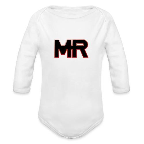 MR logo - Langærmet babybody, økologisk bomuld