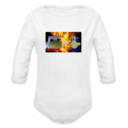TGCHICKEN VS POLLO - Body ecologico per neonato a manica lunga