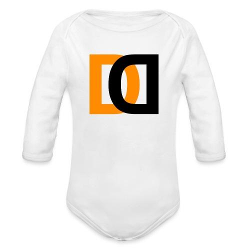 Dutch Driveclub logo oranje zwart transparante ach - Baby bio-rompertje met lange mouwen