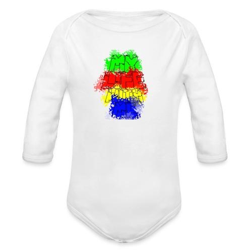 Den Officielle My Life With Minecraft Logo - Langærmet babybody, økologisk bomuld