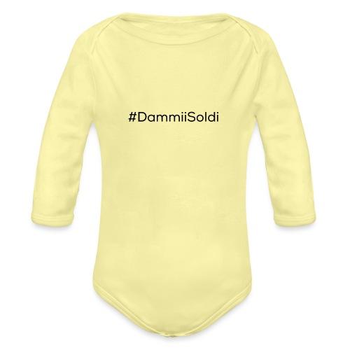 DammiiSoldi Black - Body ecologico per neonato a manica lunga