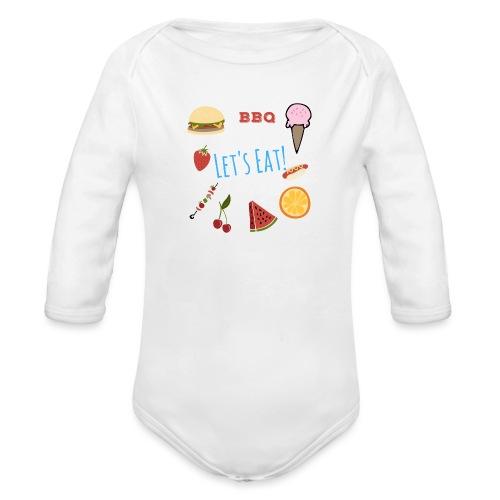 Lets Eat - Organic Longsleeve Baby Bodysuit