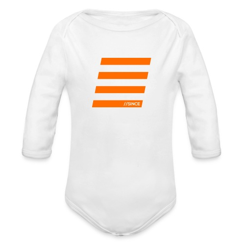 Orange Bars - Baby Bio-Langarm-Body