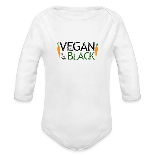 Vegan is the new black - Body orgánico de manga larga para bebé