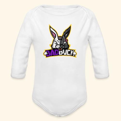 Badbuck Logo - Organic Longsleeve Baby Bodysuit