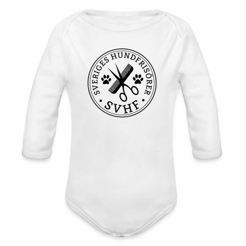SVHFs runda logo - Ekologisk långärmad babybody