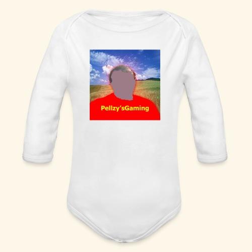 cartoon of myself - Organic Longsleeve Baby Bodysuit