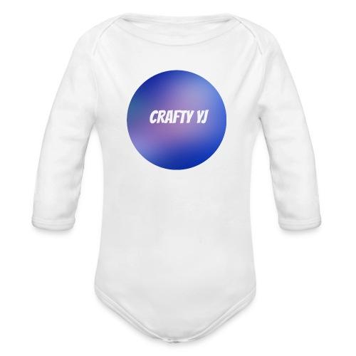 crafty - Baby bio-rompertje met lange mouwen