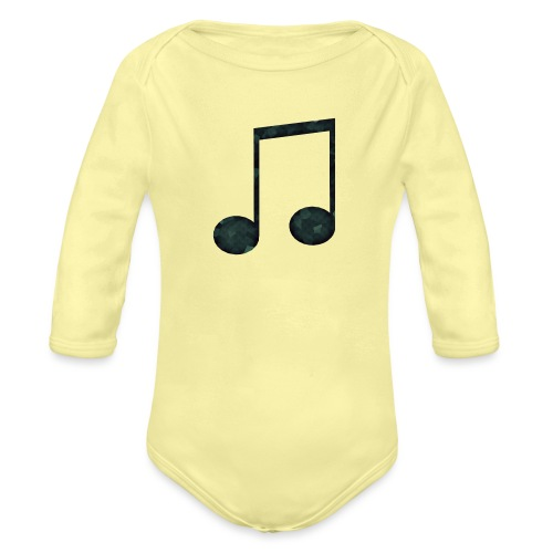 Low Poly Geometric Music Note - Organic Longsleeve Baby Bodysuit