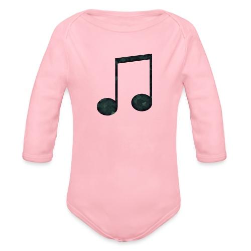 Low Poly Geometric Music Note - Organic Longsleeve Baby Bodysuit