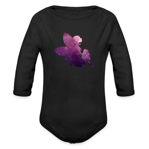 Purple fairy - Økologisk langermet baby-body
