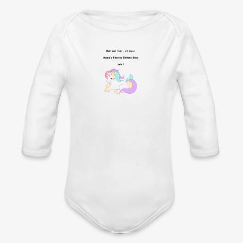 Einhorn Baby - Baby Bio-Langarm-Body