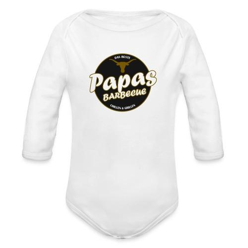 Papas Barbecue ist das Beste (Premium Shirt) - Baby Bio-Langarm-Body