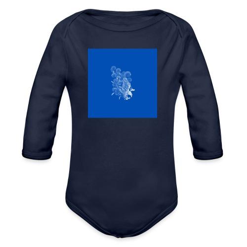 Windy Wings Blue - Organic Longsleeve Baby Bodysuit
