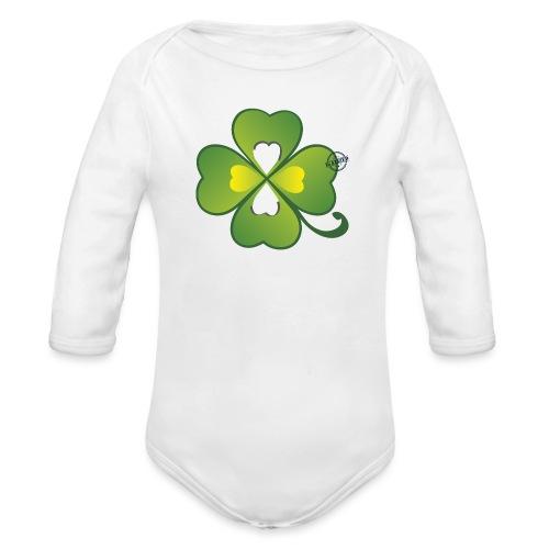 Clover - Symbols of Happiness - Organic Longsleeve Baby Bodysuit