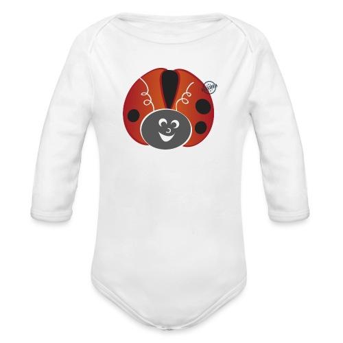 Ladybug - Symbols of Happiness - Organic Longsleeve Baby Bodysuit