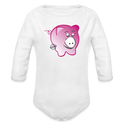 Pig - Symbols of Happiness - Organic Longsleeve Baby Bodysuit