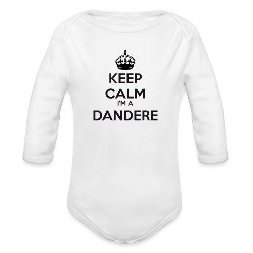 Dandere keep calm - Organic Longsleeve Baby Bodysuit